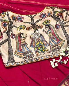 Kalamkari Blouse Designs, New Blouse Designs, Stylish Blouse Design, Blouse Back Neck Designs, Bridal Blouse Designs, Dress Design Sketches, Indian Designer Outfits, Studio, Yellow Saree