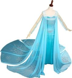 diy elsa dress   Women's Frozen Princess Elsa Dress