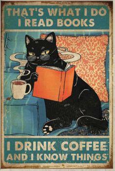 I Love Cats, Cute Cats, Funny Cats, Retro Poster, Print Poster, Crazy Cat Lady, Crazy Cats, Black Cat Art, Black Cats