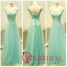 A Line Mint Green Prom Dress, Cheap Prom Dress, Lace Tulle Cap Sleeves Prom Dresses, Beaded Belt V Neck Evening Prom Gown Dress ,Custom Made Lace Back Up Girl Graduation Dress Prom Dresses 2016, Elegant Prom Dresses, Dresses Short, Prom Dresses With Sleeves, Tulle Prom Dress, Prom Dresses Online, Prom Dresses Blue, Prom Gowns, Cheap Prom Dresses