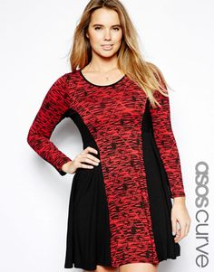 ASOS Curve | ASOS CURVE Exclusive Skater Dress In Graphic Print at ASOS
