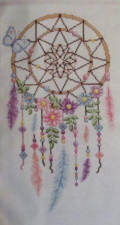 Delightful Dreamcatcher Cross Stitch Chart Design Pattern