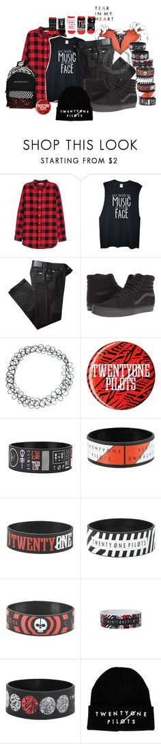 """Tear In My Heart- Twenty One Pilots"" by bandsvansandsodacans ❤ liked on Polyvore featuring H&M, BRAX, Vans and ASOS"