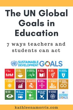 This post explains what the Global Goals are and gives some ideas on how students and teachers can take action on these goals. | Kathleen Morris Primary Tech