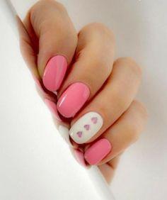 Marinozka - Fingernageldesign Hell Pink mit Weiß