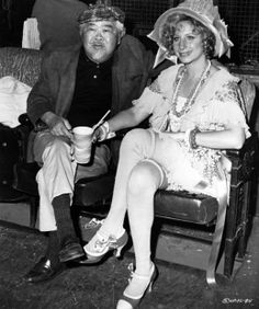 James Wong Howe and Barbra Streisand between shots of Funny Lady, the great cinematographer's swan song