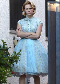 January Jones steps out in Betty Draper costume