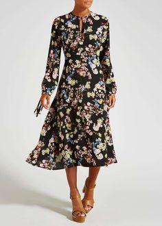 Floral Midi Dress View 2