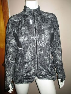 ec5e744a7196a Charter Club Active Wear Jacket Womens Plus Size 1X Black Quilted Gray Zip  Front
