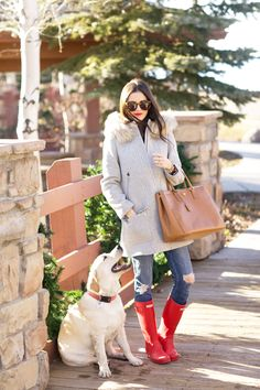 Bundled with Red Hunter Boots New Outfits, Fall Outfits, Preppy Outfits, J Crew Boots, Red Hunter Boots, Hunter Outfit, Outfit Invierno, Coat Sale, Boating Outfit
