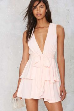 Dip It Low Tiered Dress - The Romantics