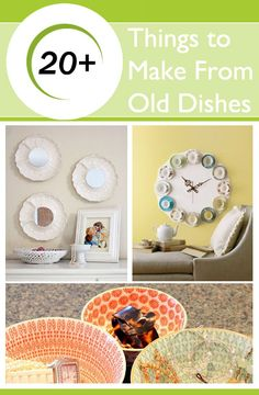 1000 images about crafts to make right after my nap for Craft ideas for old dishes