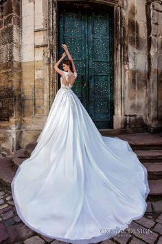 crystal design bridal 2016 sleeveless illusion boat sweetheart neckline heavily embellished bodice princess a line ball gown wedding dress sheer back royal train (pilar) bv