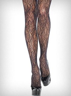 Lace pantyhose