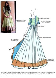 Buy online Salwar Kameez for women at Cbazaar for weddings, festivals, and parties. Explore our collection of Salwar suits with the latest designs. Dress Design Sketches, Fashion Design Sketchbook, Fashion Sketches, Anarkali Patterns, Dress Patterns, Indian Dresses, Indian Outfits, Kaftan, Fashion Illustration Dresses