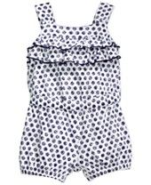 First Impressions Play Baby Girls' Sketched-Dot Romper