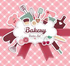 Ilustración abstracta de panadería y dulces