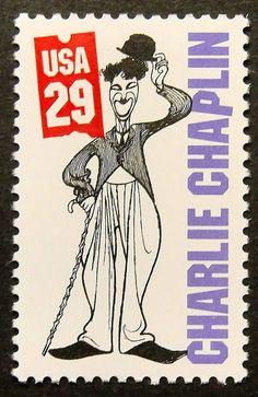 Charlie Chaplin -USA -15567 Framed Postage Stamp Art on Etsy, $12.90