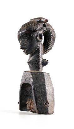 Africa | Heddle pulley from the Guro people of the Ivory Coast | Wood
