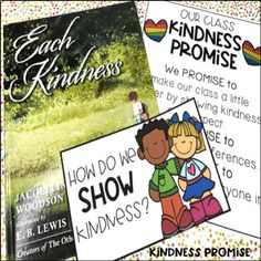 Each Kindness Book Study Kindness For Kids, Books About Kindness, Kindness Activities, Book Activities, Class Promise, Important Life Lessons, Shared Reading, Character Trait, Vocabulary Cards