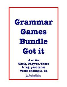 Here are four grammar games to make reviewing fun. Save when you buy the bundle. All these products are also sold separately. ESL,ELA 2nd-5th gr. $5.50