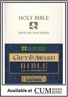 The books of the Apocrypha are difficult to find in affordable English Bibles today - until now!