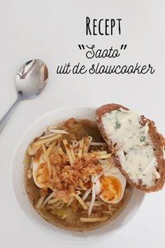recept saoto uit de slowcooker, soto soep Risotto, Slow Cooker, Lemon Kitchen, Asian Recipes, Ethnic Recipes, Couscous, Crockpot, Appetizers, Yummy Food