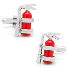 Firemen Fire Extinguisher Cufflinks Firefighter Gift – The Firefighter Shop