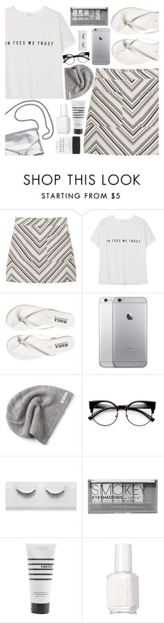 """Muted"" by floralandmay ❤ liked on Polyvore featuring MANGO, Loeffler Randall, Converse, Boohoo, Herbivore, Pirette and Essie"