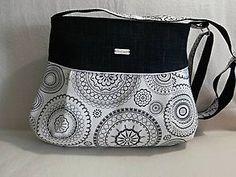 Kabelky - Crossbody kabelka - čierne mandaly - 8290033_ Diaper Bag, Bags, Fashion, Handbags, Moda, Diaper Bags, Totes, Fasion, Lv Bags