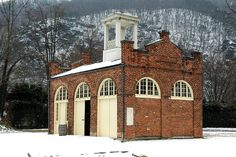 John Brown's Fort in Harpers Ferry.  Great shot in the snow.