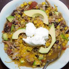 Slow cooker chicken tortilla soup | My Real Food Family