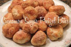 Cinnamon Sugar Pretzel Bites Recipe - Just 4 Ingredients #recipe