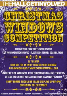 Enter our Xmas Windows competition and show off your creative talents! All Poster, Posters, Exeter, Brighton, The Outsiders, Competition, Xmas, Windows, Creative