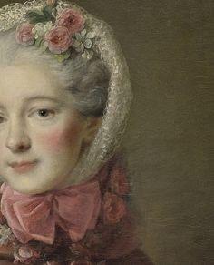 Portrait de jeune femme (Détail) François Hubert Drouais (1727-1775)