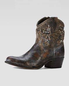For that one time you want to wear a cowboy boot .....Frye Deborah Studded Boot - Neiman Marcus