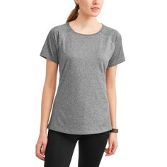 ffb90a1f32f8 Athletic Works - Women's Repreve Short Sleeve Crewneck T-Shirt Proudly Made  With Recycled Fabric - Walmart.com