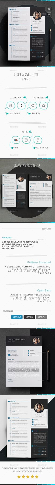 Elegant Resume Template PSD, MS Word
