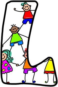 *✿**✿*L*✿**✿* Alphabet Drawing, Alphabet Art, Alphabet And Numbers, Letter L, Kids Board, Letter Recognition, Help Teaching, Brush Pen, Phonics
