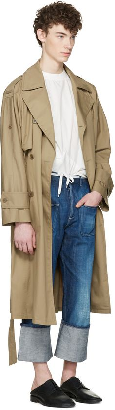 Maison Margiela - Beige Oversized Trench Coat