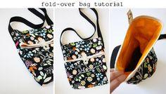 noodlehead: fold-over bag tutorial