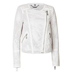 Rachel Zoe Mesh Leather Moto Jacket