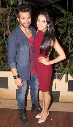 Rithvik Dhanjani and Asha Negi at Sargun Mehta's birthday bash.