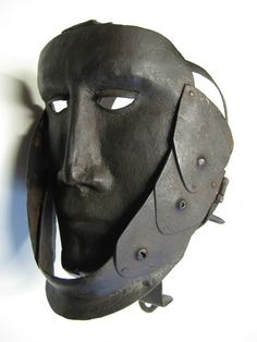 Mask of Shame - Disgrace. Wrought Iron. German. Circa 1650.