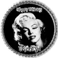 Marilyn Monroe Edible Birthday Cake Topper OR Cupcake Topper, Decor - Edible Prints On Cake (Edible Cake &Cupcake Topper)
