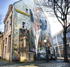 Muurschildering in Maastricht