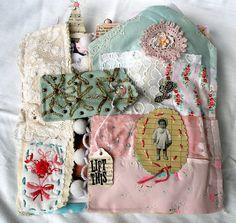 Lilia Meredith - art journal using fabrics