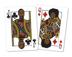 Snoop Dogg Playing Cards by Carmen Leah