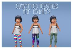 Sims 4 CC's - The Best: Toddler Leggings by pixielated