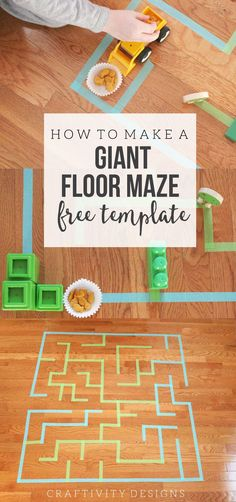 How to make a Giant Floor Maze with affordable products you can easily grab @Walmart. This is a great indoor activity for kids that gets them moving and thinking analytically. Click through to get the Giant Floor Maze Template. by @CraftivityD #GoldfishGameTime